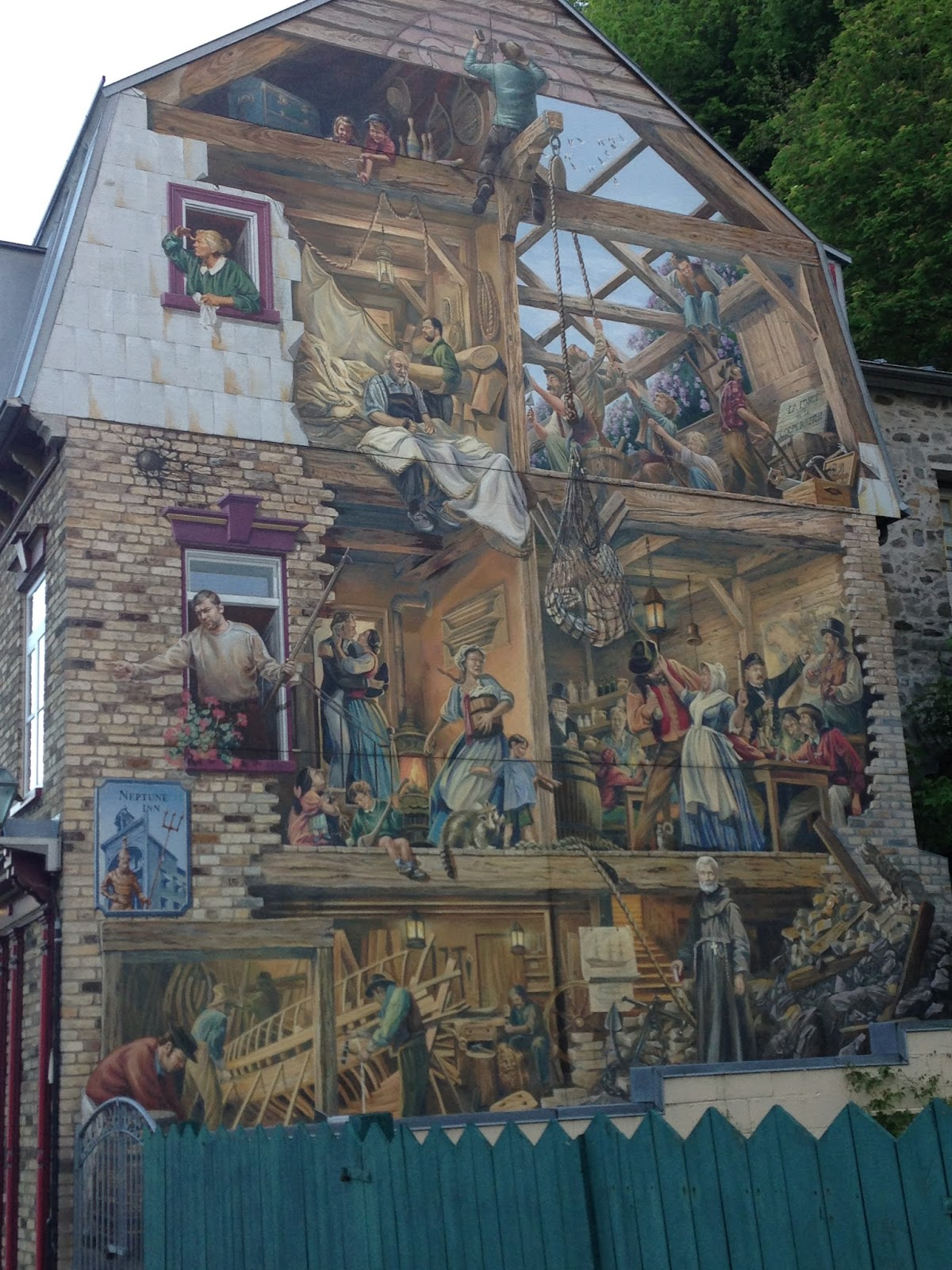 Road tripping with mao the shortest route to paris for Mural quebec city