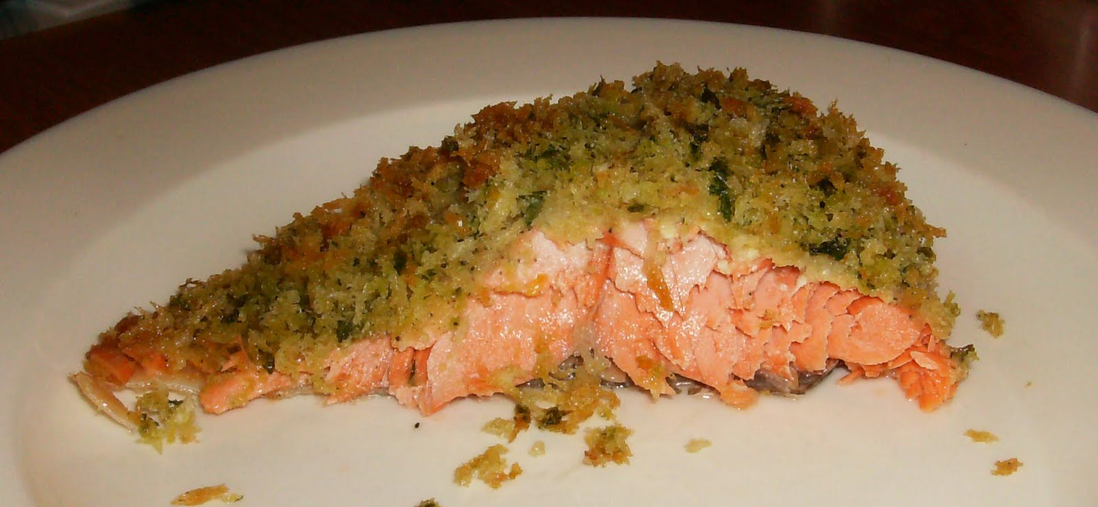 In a World of My Own: Panko-Crusted Salmon