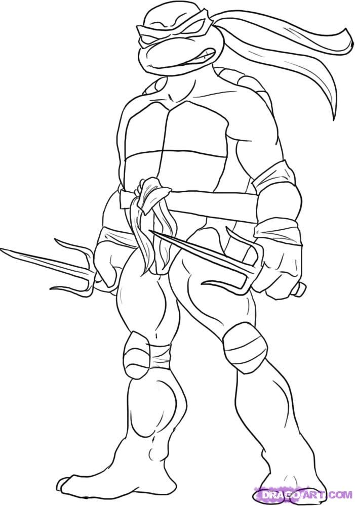 printable coloring pages ninja turtles - photo#8