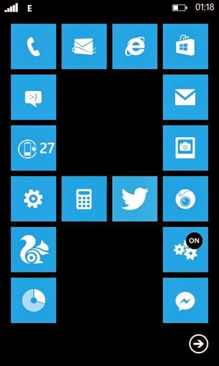 Nokia Lumia 520 home screen tile designs