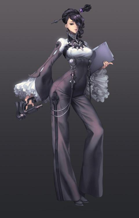 Gwon Yun Jeong lovecacao illustrations fantasy women beautiful sexy Secretary