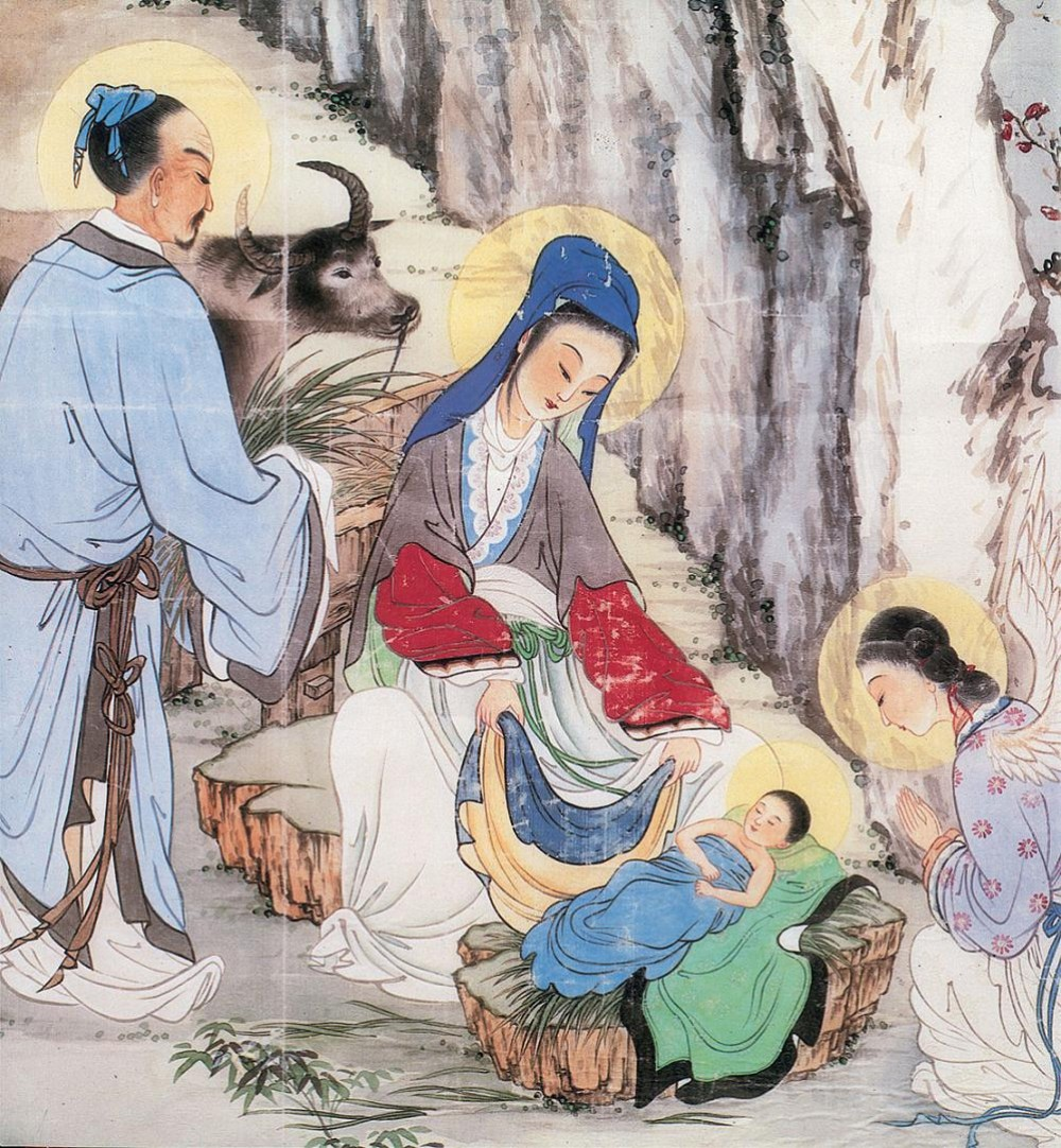 Kodabar dayz blog mystery monday was jesus chinese for Christian mural paintings