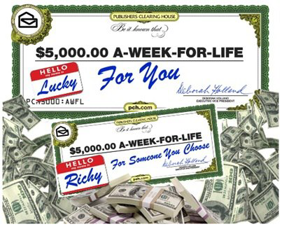 PCH 5000 Week Sweepstakes