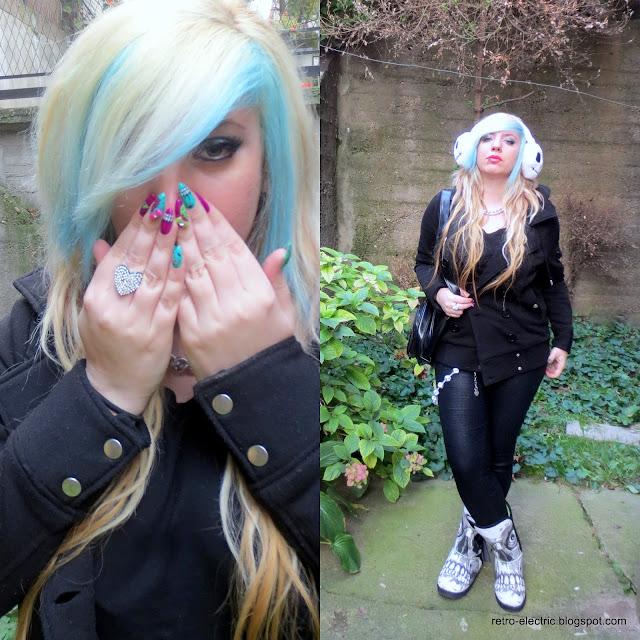 Halloween, Jack Skellington, Nightmare before Christmas, emo girl, iron fist nails