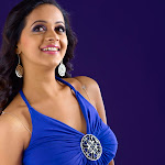Bhavana Spicy in Blue Dress    Photo Set