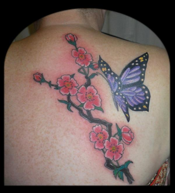 Japanese cherry blossom tattoos all about for Japanese cherry blossom tattoos