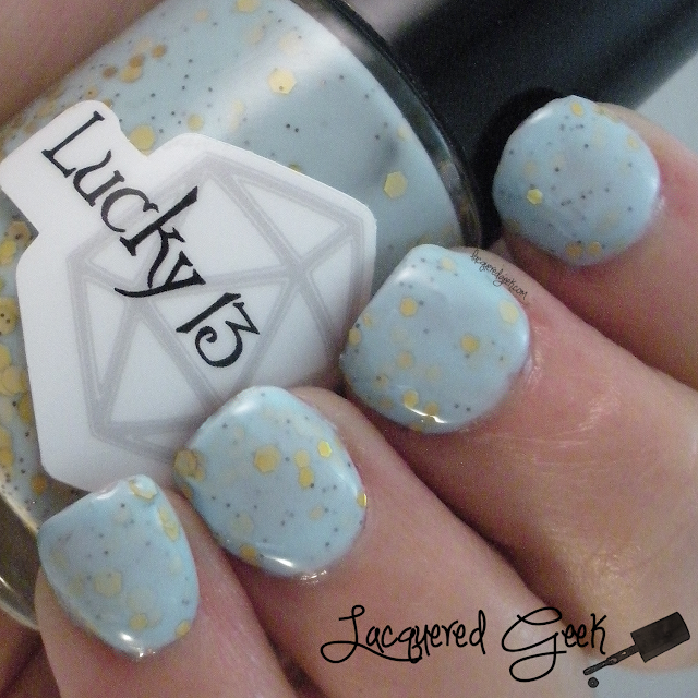 Lucky 13 Lacquer Softening the Bad Things nail polish swatch