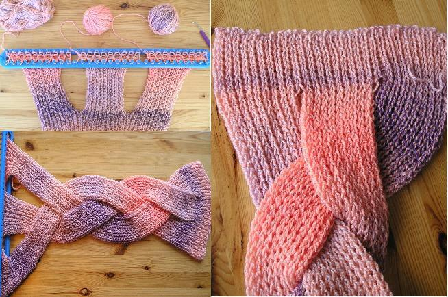 Knitting Pattern Braided Scarf : The Knitting Needle and the Damage Done: A Pretty Plait