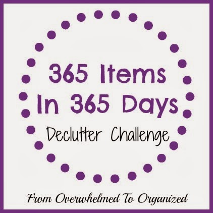 365 Items in 365 Days Decluttering Challenge | fromovewhelmedtoorganized.blogspot.com