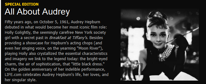 Audrey Hepburn the Princess of Hollywood.
