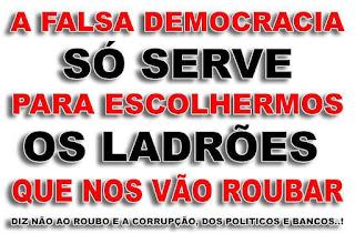 falsa democracia roubar
