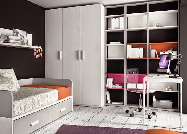 Dormitorio blanco y gris claro