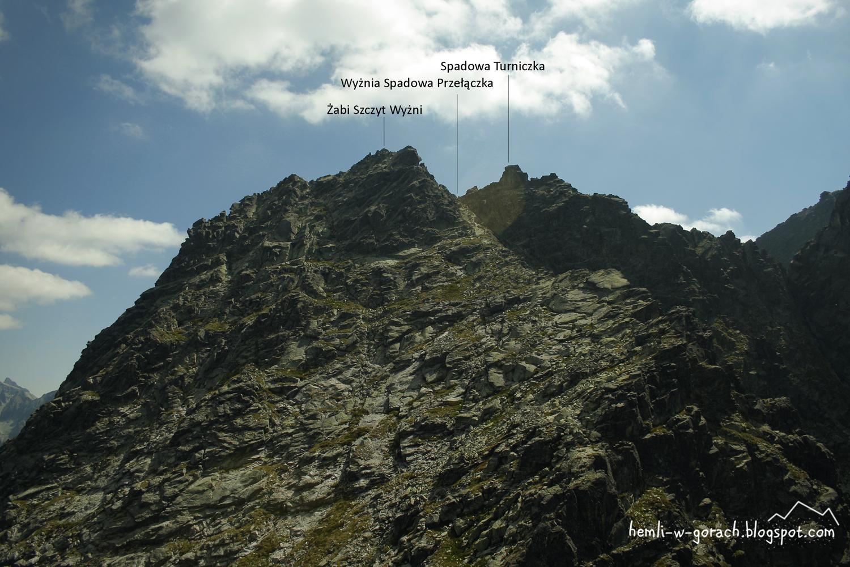 Widok na Żabi Szczyt Wyżni z Białczańskiej Przełęczy Wyżniej