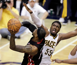 Indiana Pacers, Miami Heat, Lebron James,Hibbert