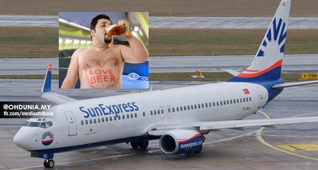 Pesawat mendarat cemas, Lelaki mabuk minta pramugari lakukan seks
