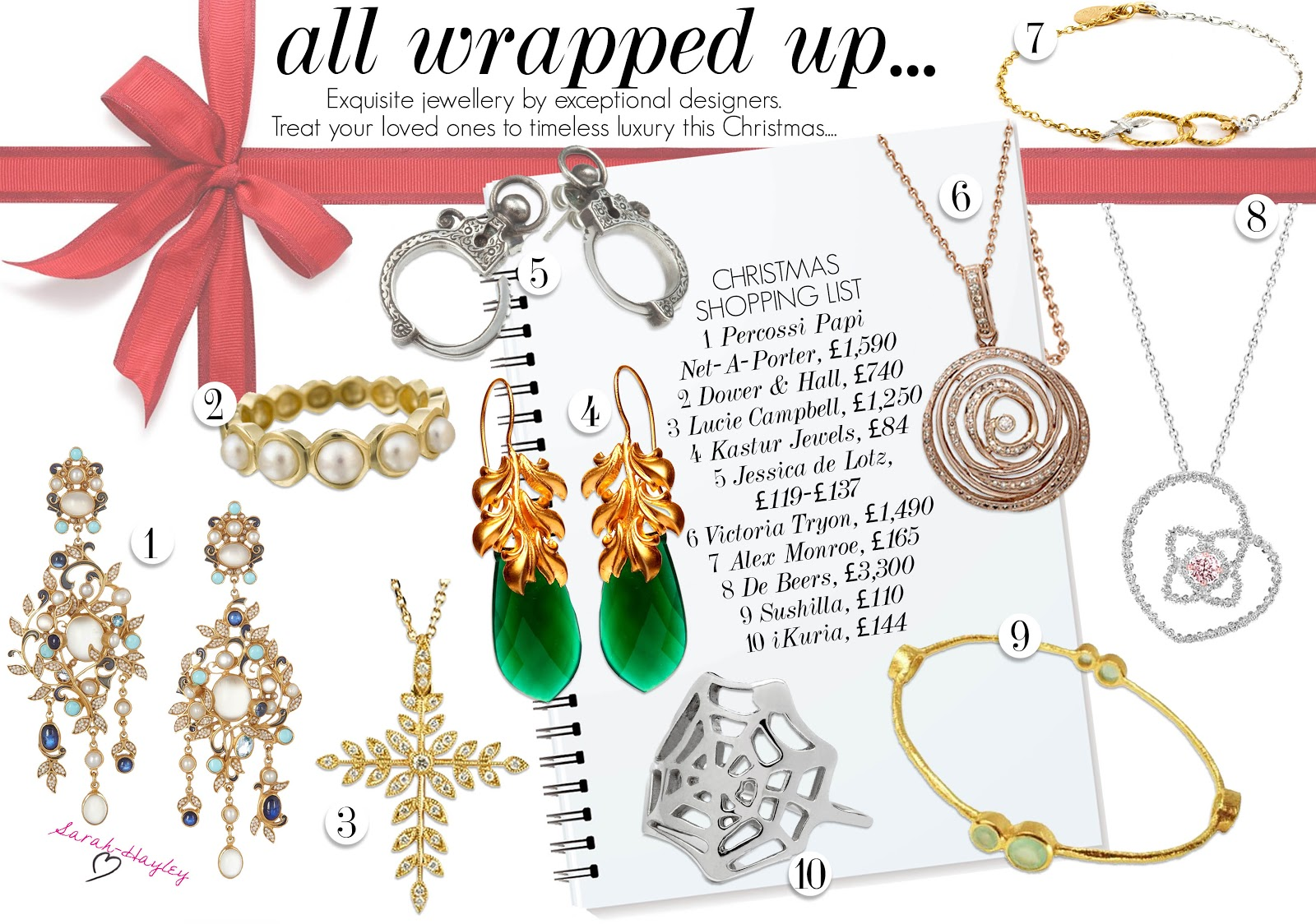 All Wrapped Up - Timeless Jewellery for Christmas - by Sarah-Hayley Owen