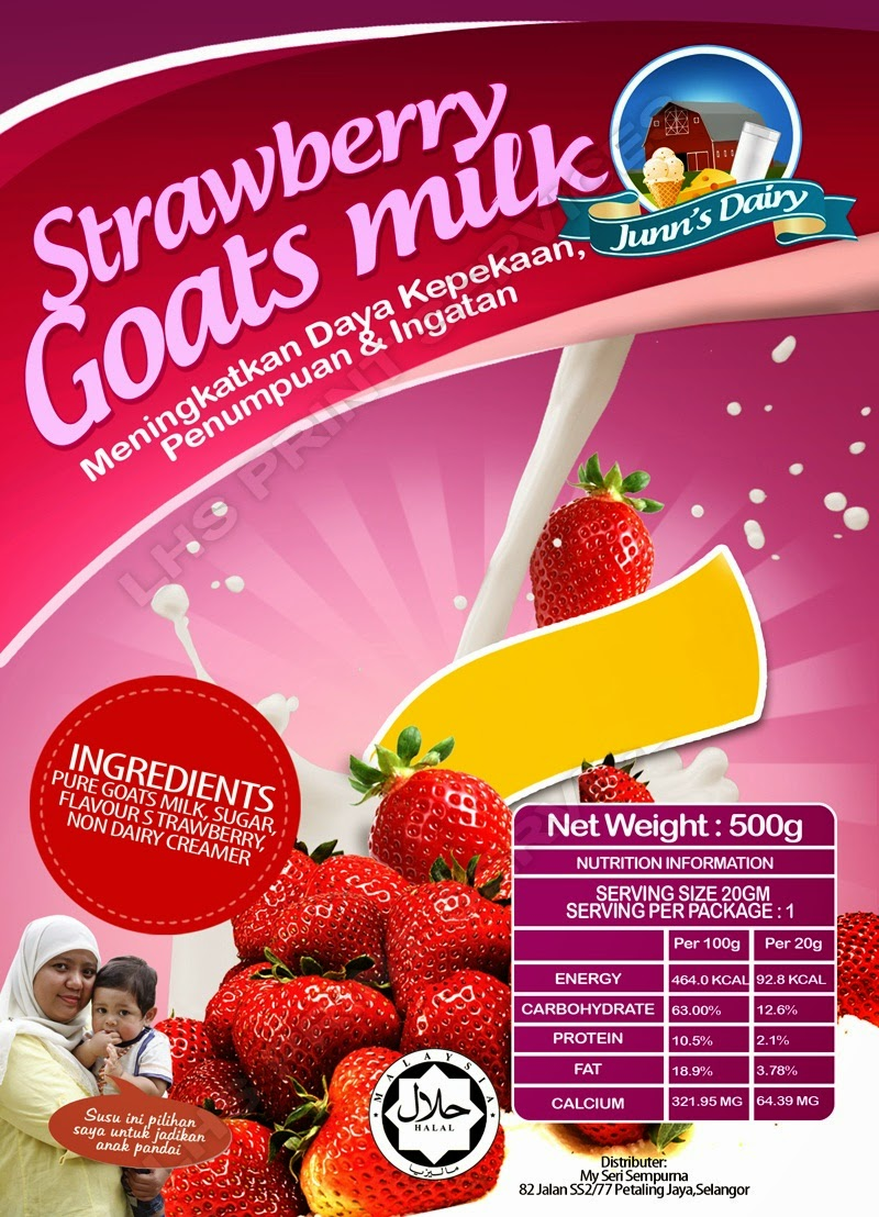 Susu Kambing Strawberry