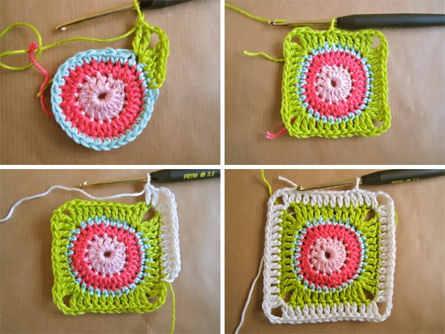 Color N Cream Crochet And Dream Circle In Square Tutorial I