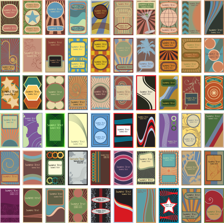 ヴィンテージな背景のカード テンプレート vintage background card template イラスト素材2