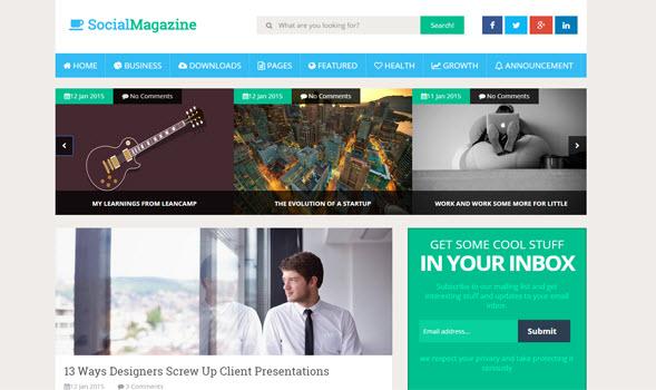 Social Mag Blogger Magazin Teması