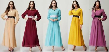 Re stock Dress Kesukaan Ramai, Lavinia Lace Waisted Chiffon Jubah Sopan, Anggun Sangat Bergaya
