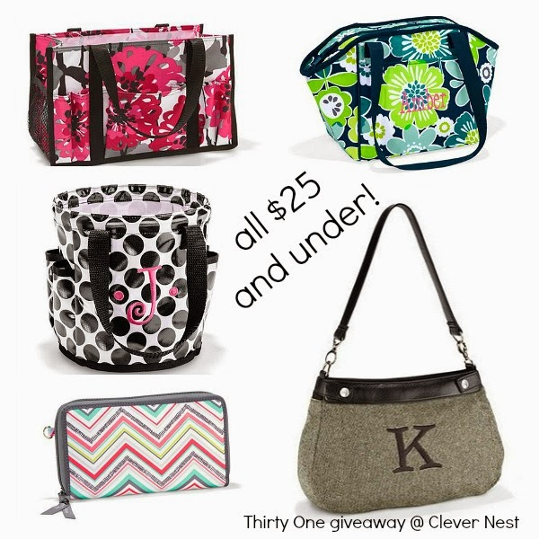 enter to win $25 to Thirty One at Clever Nest, by 2/11/14