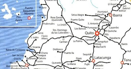 mapa ruta ecuador