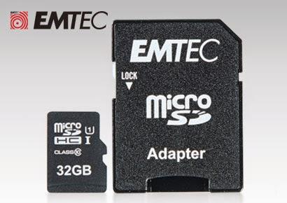 Karta pamięci EMTEC micro SDHC 32 GB z adapterem z Biedronki