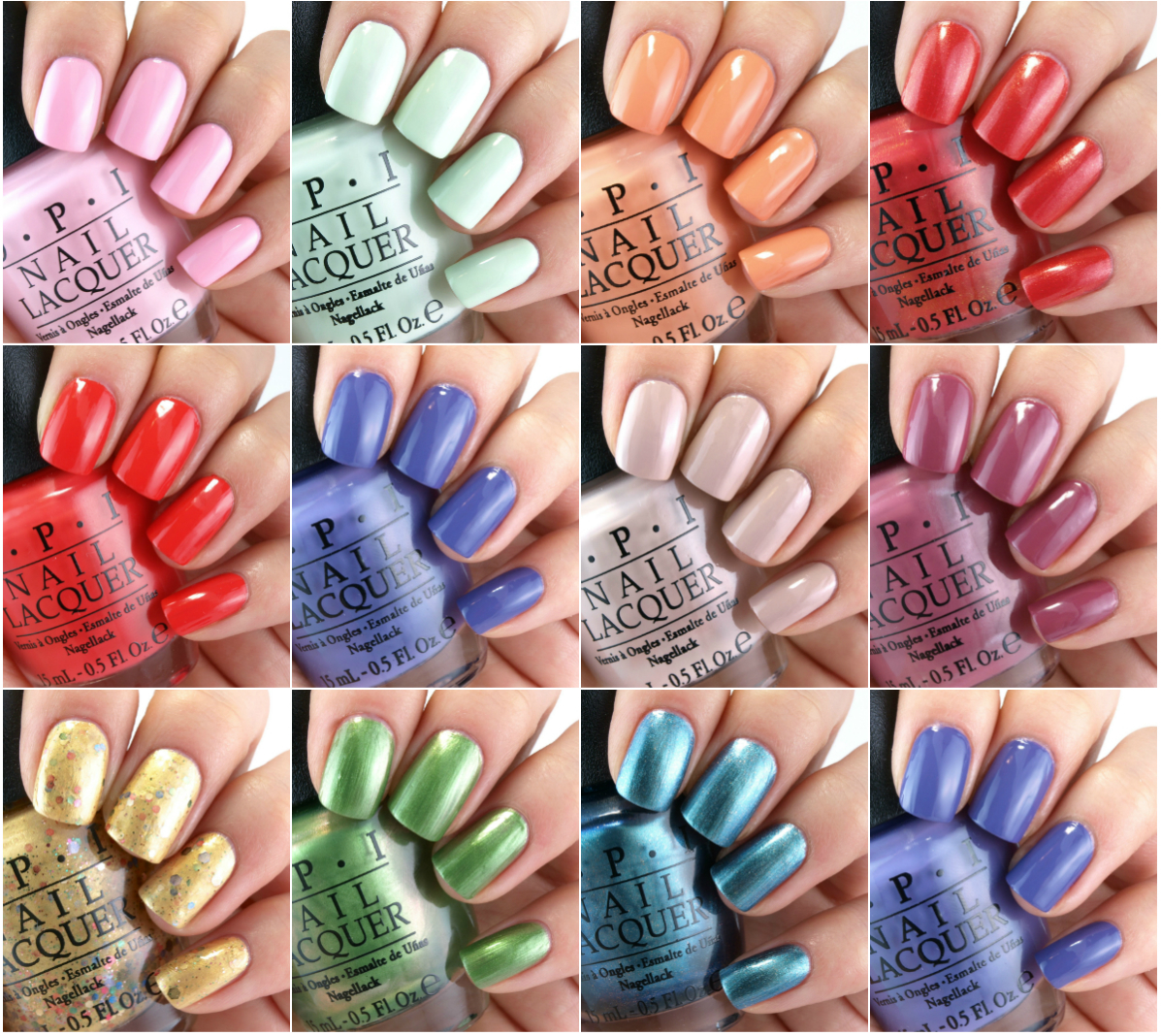 OPI Hawaii Collection For Spring 2015 Review And Swatches
