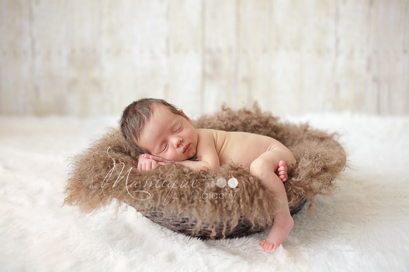 Newborn Girl in Basket - Vancouver Photographer