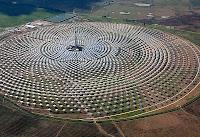Gemasolar power plant still produces electricity even dark