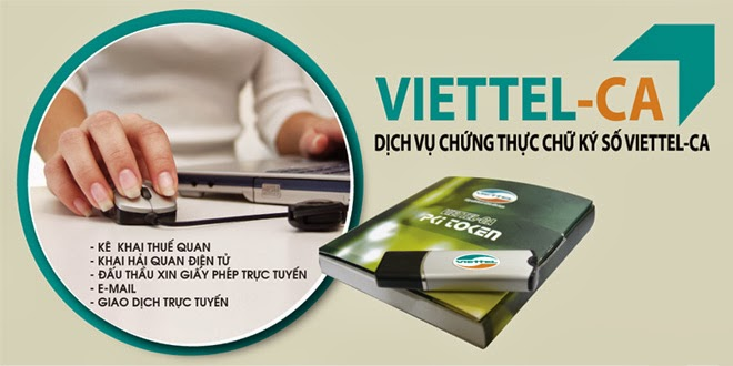 Dịch vụ chữ ký số Viettel CA