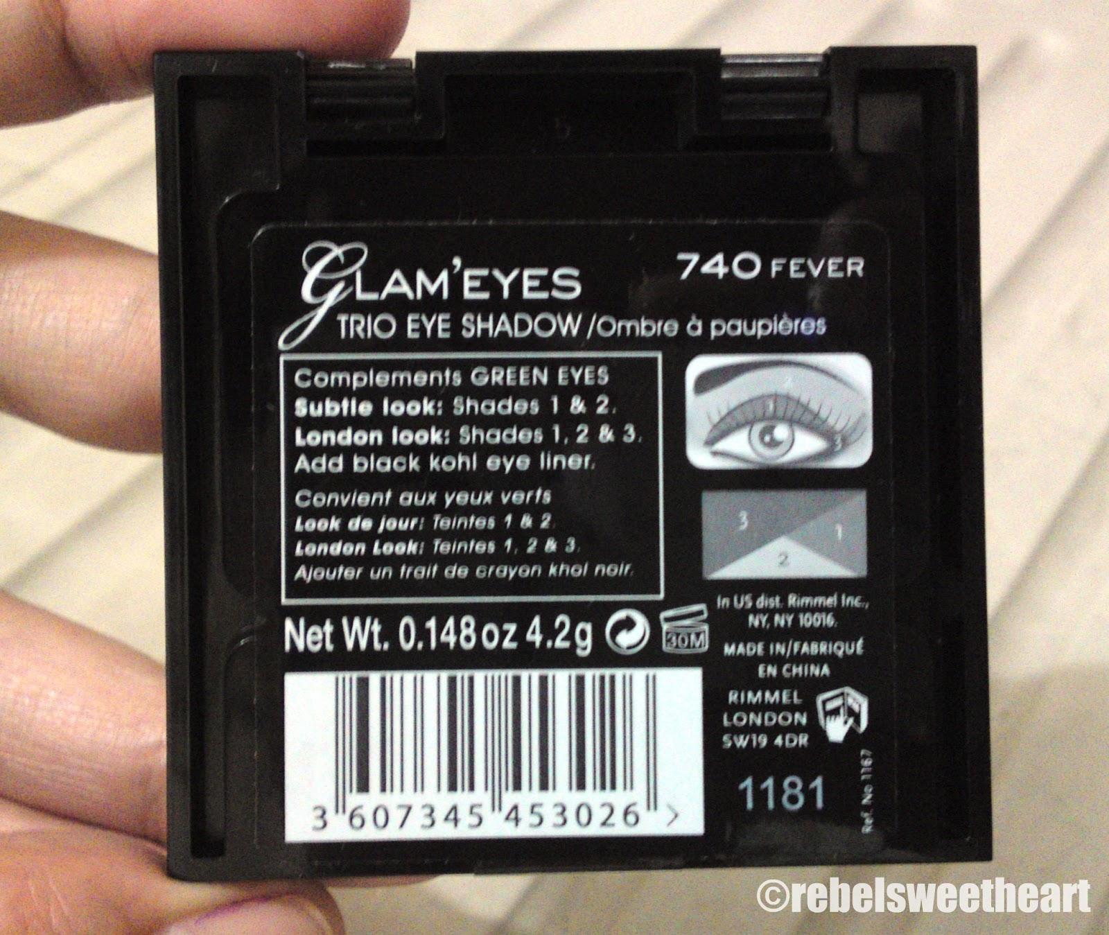 The Rebel Sweetheart Spotlight Rimmel Glameyes Trio Eyeshadow 1 Get London Look