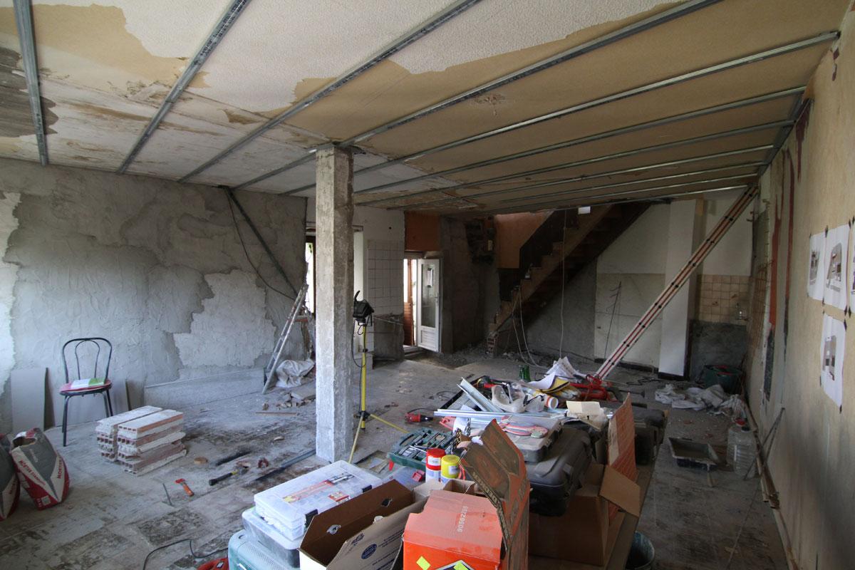 R novation de ma maison le faux plafond for Renovation plafond placo