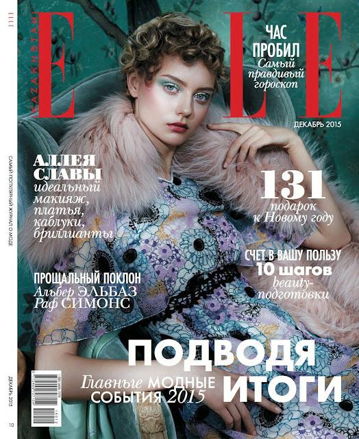 Fashion Model, @ Nastya Kusakina by Lena Manakai for ELLE Kazakhstan, December 2015