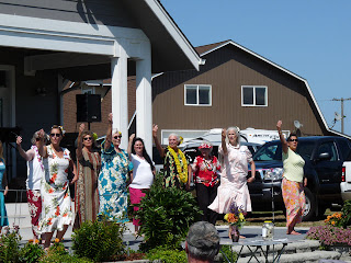 Mahina with her hula ladies from Sequim Senior Center