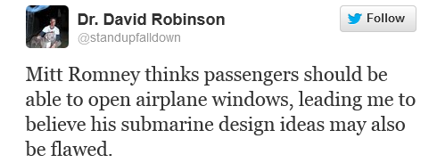 Mitt Romney Wonders Why Planes Don't Have Windows That Roll Down?