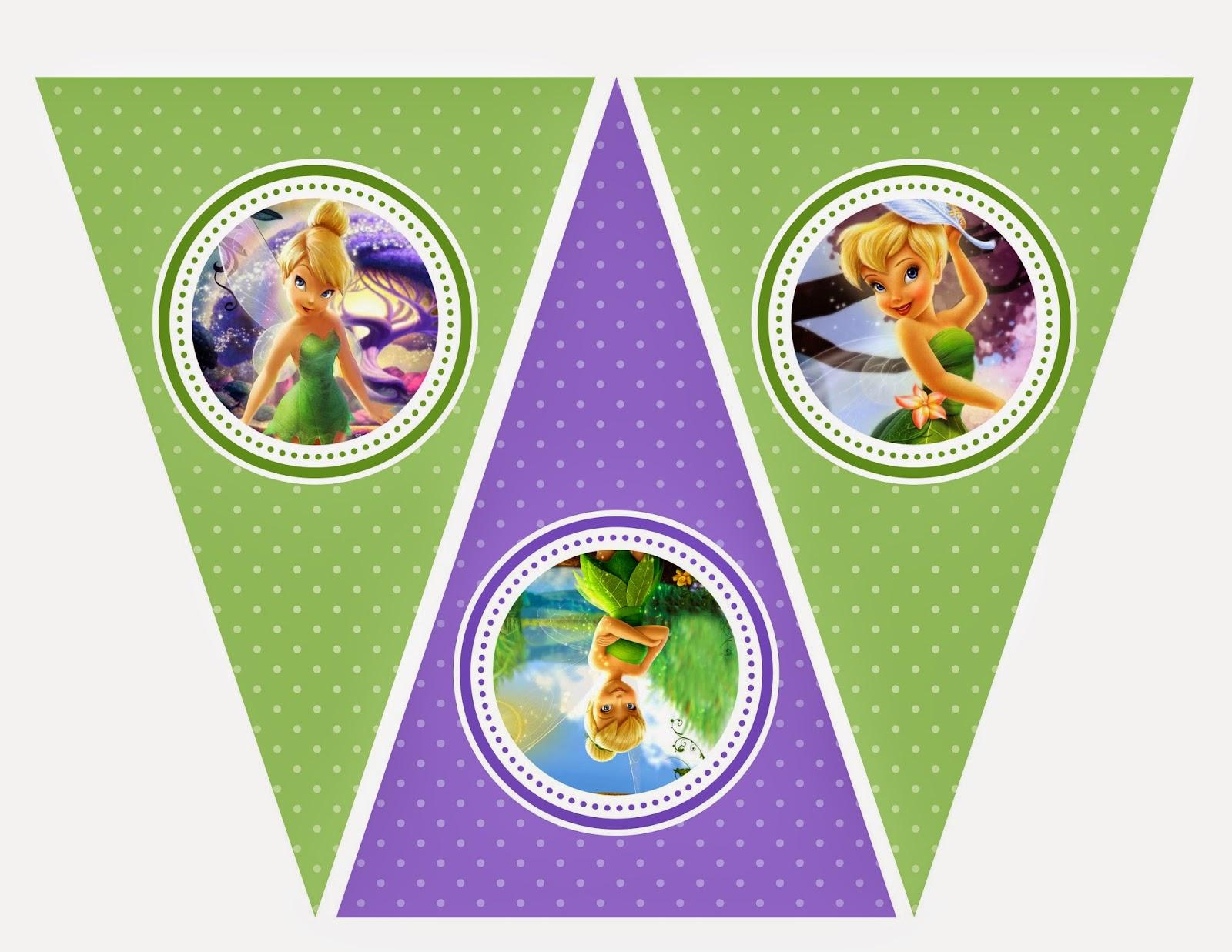 Imprimible gratis de Campanilla - Fiesta de princesas