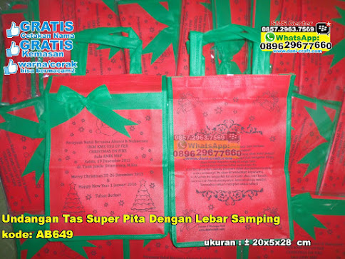 Undangan Tas Super Pita Dengan Lebar Samping unik