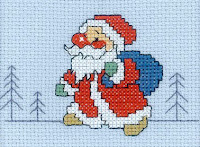 вышитый Дед Мороз