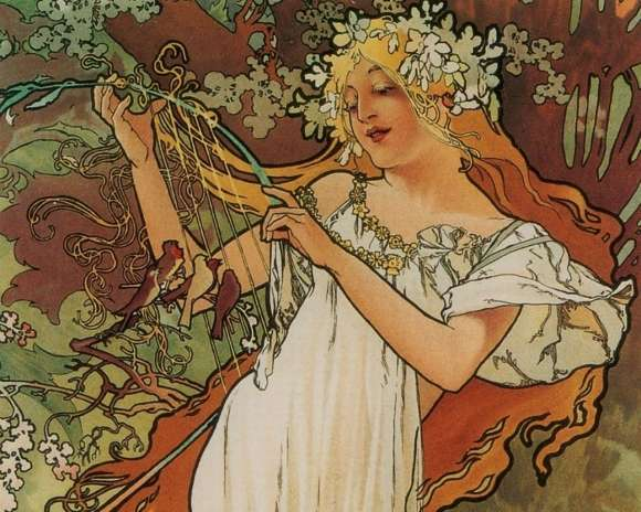Alphonso Mucha Art Painting Wallpapers 06