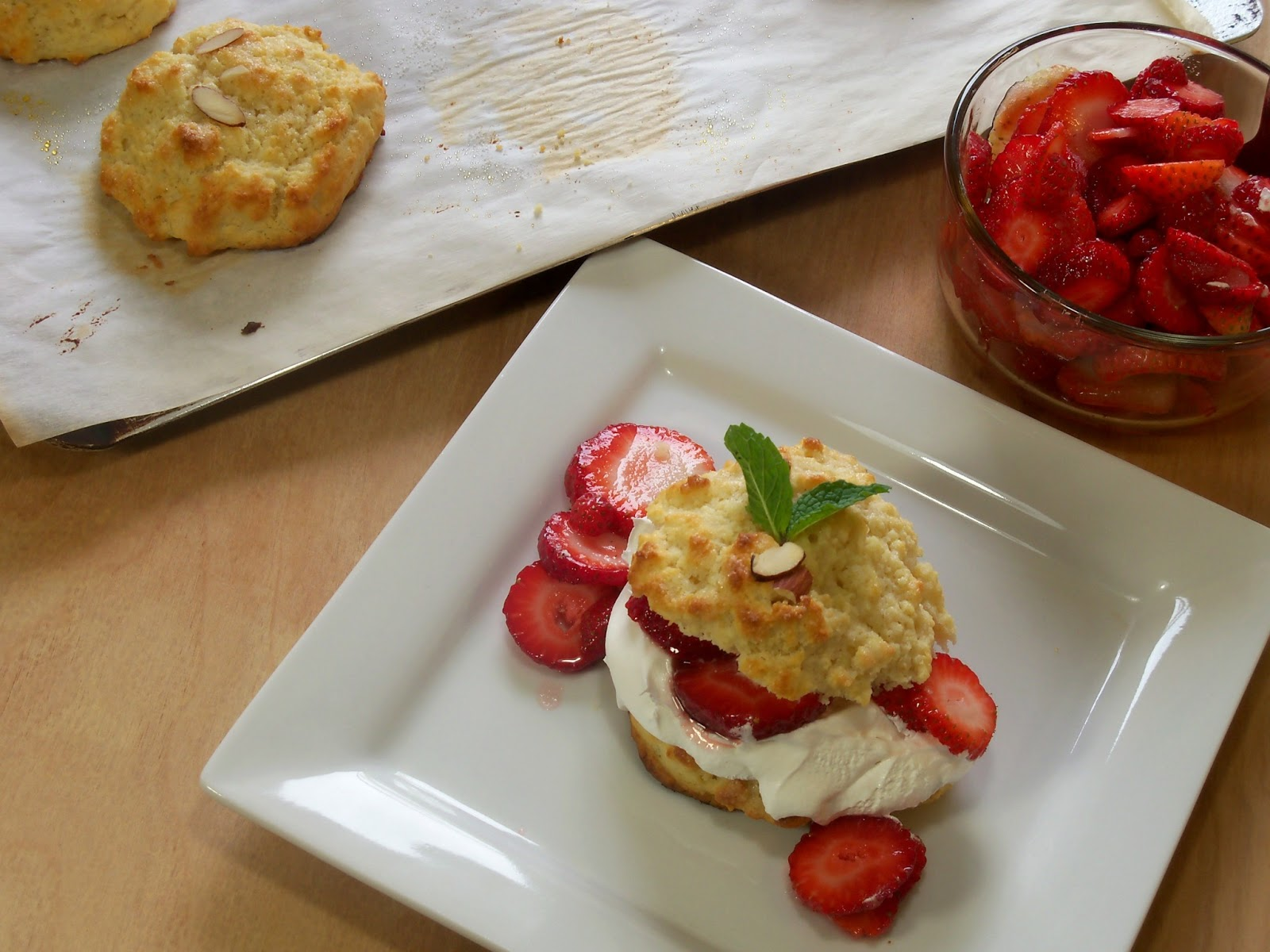 The Style Dossier: Almond Strawberry Shortcakes