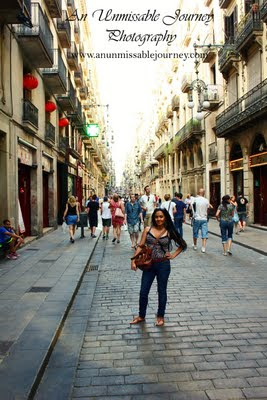 Travel Photos Marj Lago indulging the beauty of Barrio Gotico Barcelona Spain