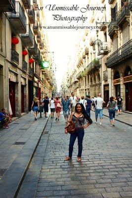 Travel Photos Marj Lago indulging the beauty of Barrio Gotico Barcelona Spain