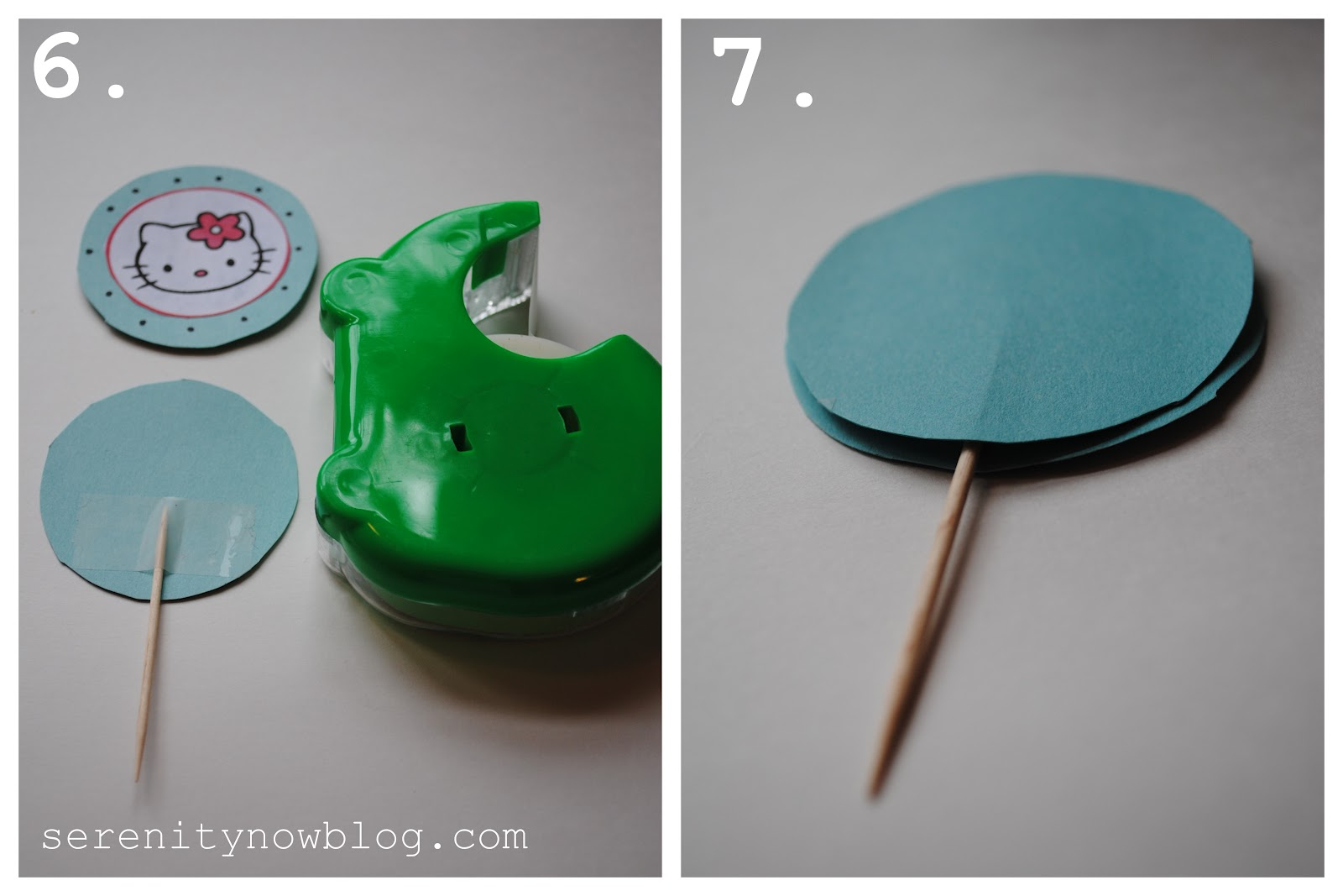 Your Completed Cupcake Topper Will Look Like This