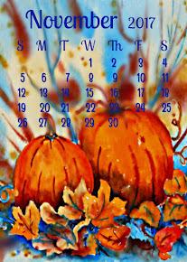 FREE!!! - November Calendar Instant Print