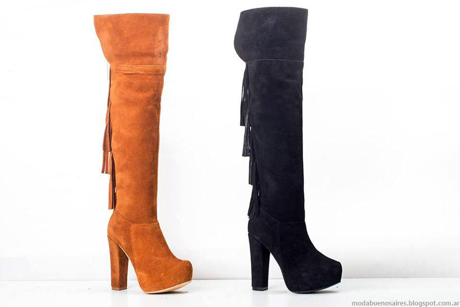 Botas cpn flecos otoño inviern 2015. Moda zapatos otoño invierno 2015, Calzado Micheluzzi.