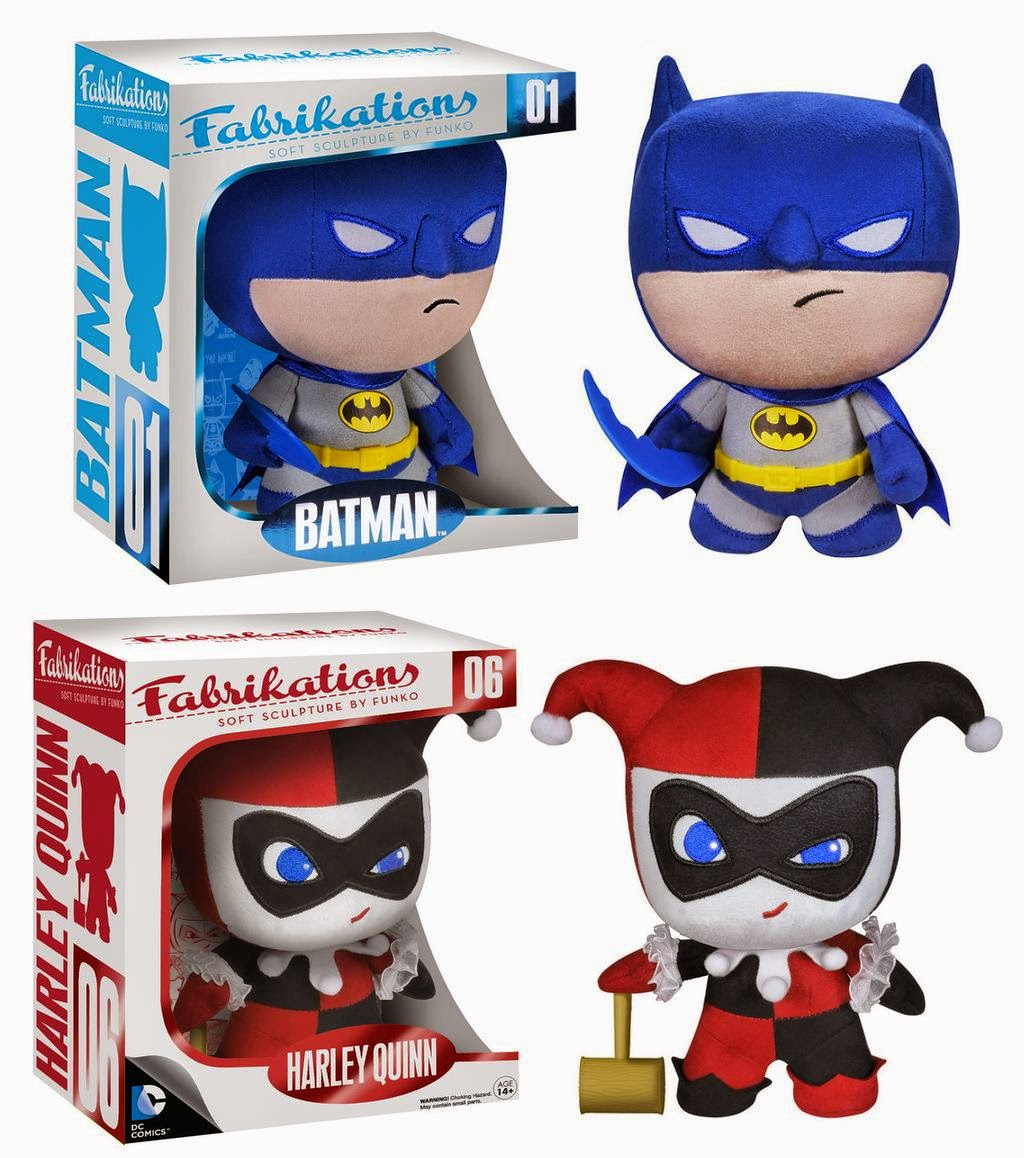 Batman & Harley Quinn DC Comics Fabrikations Plush Figures by Funko