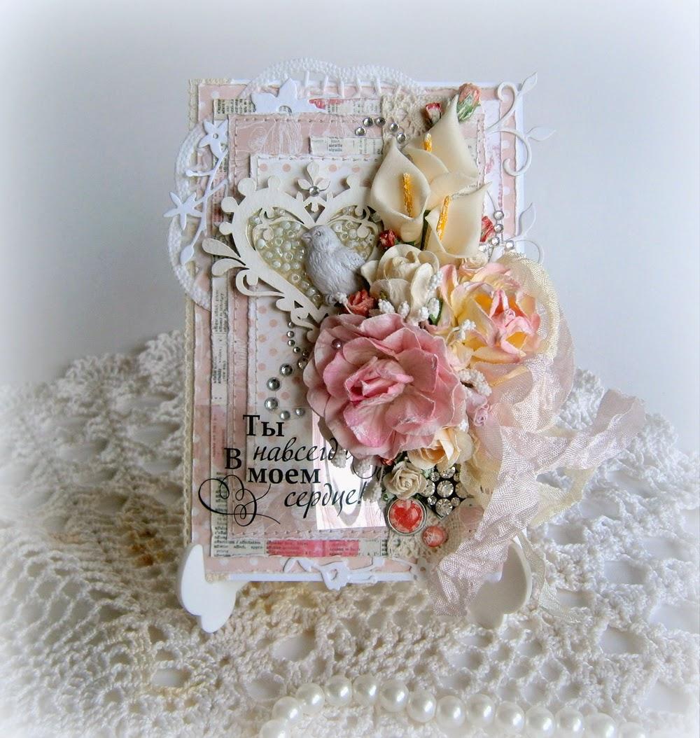 Свадебная открытка своими руками в стиле шебби-шик 33