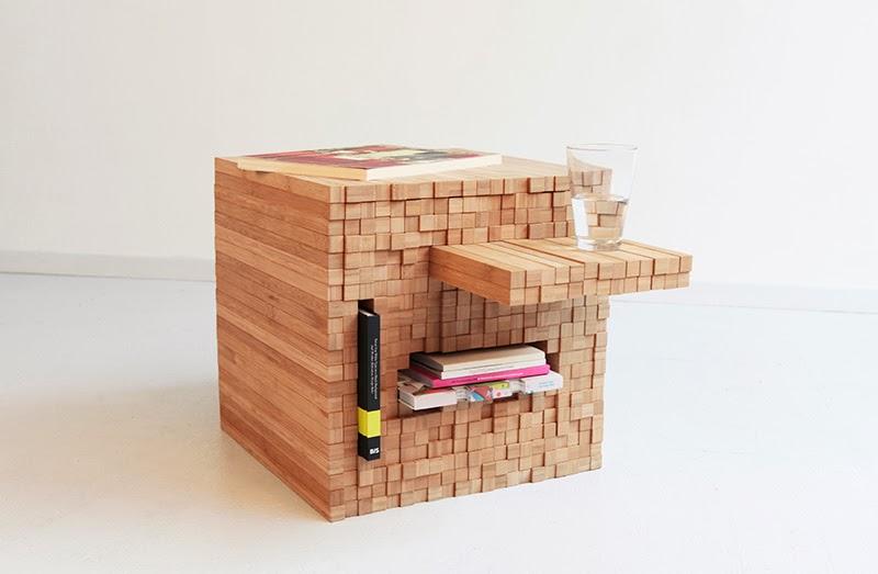 ilia estudio interiorismo: Mesa de centro con listones de madera ...